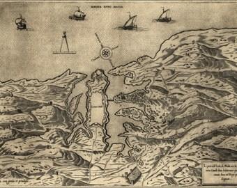 16x24 Poster; Map Of Malta, 1563