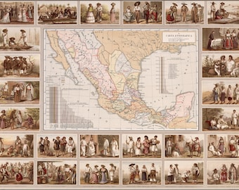 16x24 Poster; Ethnographic Map Of Mexico 1885