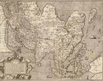 16x24 Poster; Map Of Asia 1602