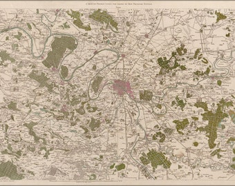 16x24 Poster; Map Of Paris And Environs 1793