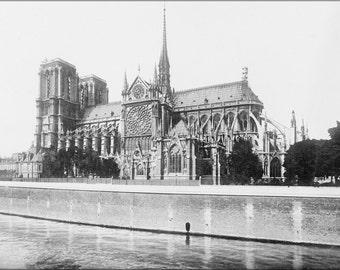 16x24 Poster; France, Notre Dame Cathedral, Paris. 1916