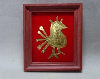 Framed Metal Bird Orzeł.z denara Bolesława Chrobrego