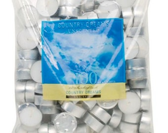 Country Dreams Unscented Tea Lights 100/Pkg-White - Craft Work or  Wedding Supplies Decorations