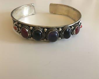 Beautiful boho adjustable cuff bracelet