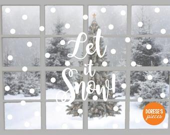 Let It Snow! Vinyl Window Decal