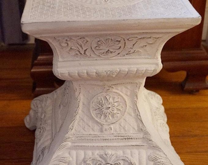 White Metal Victorian Pedestal