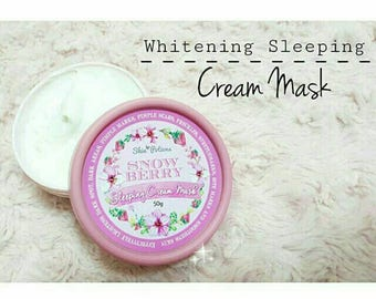 Snow Berry Whitening Sleeping Cream Mask