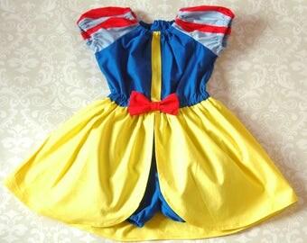 Girls Romper, Toddler Romper, Girls Dress, Toddler Dress - Princess Romper Snow White