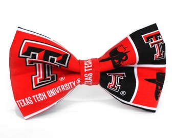 Texas Tech Bow Tie | College Bow Tie | Sports Bow Tie | College Team | Gift for Him | Kid Football Bow Tie | Coach Gift | Dog Bow Tie