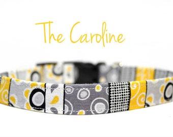 Yellow Floral Dog Collars, Summer Dog Collars, Floral Dog Collars, Spring Dog Collars, Girl Dog Collars, Dog Collars, Fabric Collars