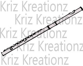 Flute SVG Cut File