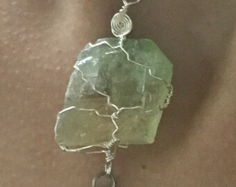 Green fluorite with Tree of Life