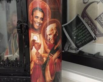 St Obama Biden BFF Valentines Day Prayer Candle