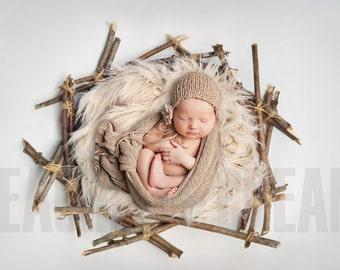 DIGITAL Nest Prop, Newborn Nest Digital, Newborn Nest Prop, Newborn Prop Backdrop, Fur Nest Digital, Digiprop Baby Prop,  Newborn Background