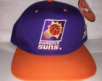 Vintage Phoenix Suns snapback hat cap nba 90s nwt deadstock G CAP charles barkley