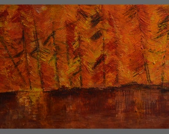 Serenity: Beeswax, dry pigments oil painting on a gallery style wooden panel ready for display