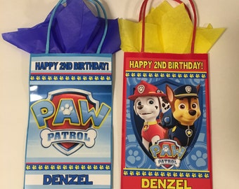 Paw Patrol party bags 24