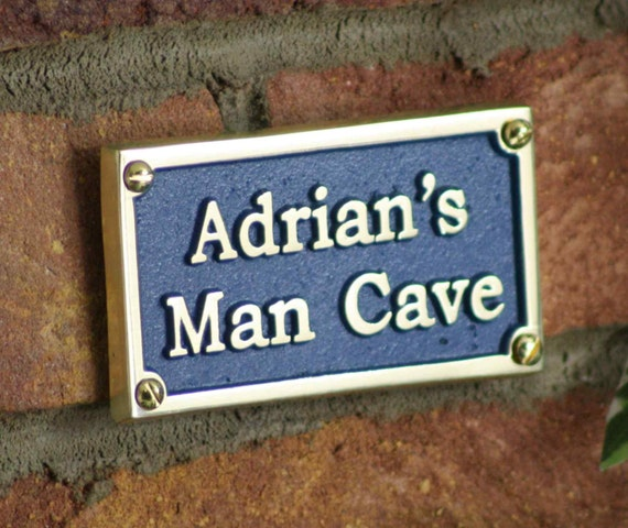 Man Cave Signs Personalized Uk : Custom name mancave plaque sign hand made in england to order