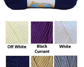 Yarn - Bernat Handicrafter Cotton - Blackcurrant or Jute
