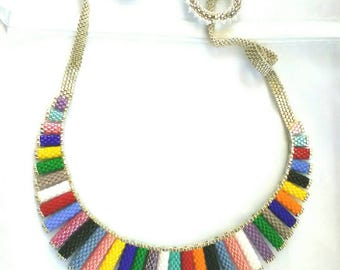 Handmade necklace, with Japanese beads