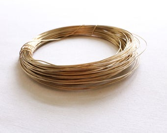 1 Foot - 20 Gauge - 14k Gold Filled Wire - Half Hard Round Wire - Jewelry Wire - Crafting Wire - Bulk Gold Wire - Wholesale - GF HH Wire
