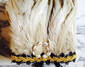 Feather Crown (Decorative) - Black and Gold