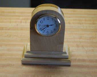Hand made round top quartz mantel clock