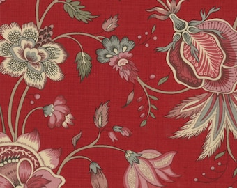 Item # 13632 12 Moda Fabric La Belle Fleur Collection by French General. 1/2 Yard Cuts Vintage French Designs.