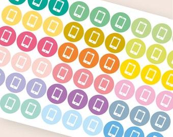 54 iphone stickers, phone call stickers, planner stickers, phone stickers, call meeting smartphone sticker eclp filofax happy planner kikkik