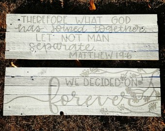 """28"""" wide rustic pallet wood sign"""