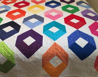 Rainbow color quilt