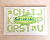Alphabet Pattern - Spell it with Fabric! By Moda - Quilting