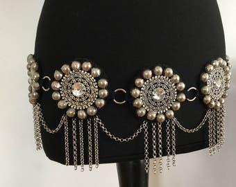 Tribal Fusion/mandalas/Tribal Fusion belt/handmade/boho/boho chic/belts boho/Mandala Belt/Kuchi