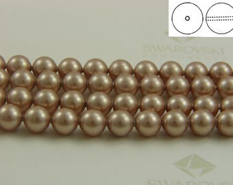 Swarovski #5810 Crystal Powder Almond Pearls Round Beads 3mm 4mm 6mm 8mm
