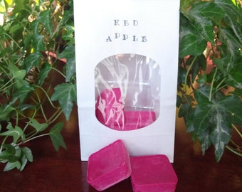 4oz!! soy wax melts, tarts,  Red Apple, cubes