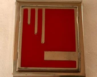 Deco Armand Red Powder Compact