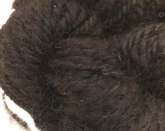 Black handspun alpaca yarn