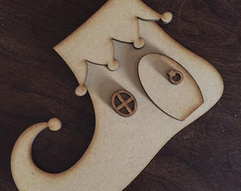 Elf Shoe House, Fairy House, 3D Laser cut MDF Crafts