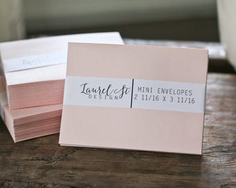"Blush Mini Envelopes ~ Mini Envelope ~  Size 2 11/16"" x 3 11/16"""" ~ qty 25"