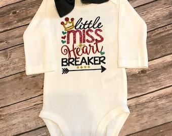 Girls Little Miss Heart Breaker Shirt or Bodysuit-- Valentine's Shirt -- Little Miss Heart Breaker girls shirt