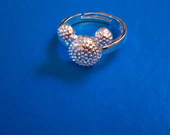 Silver mickey ring
