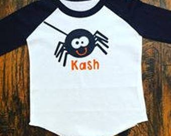 Customized halloween spider shirt