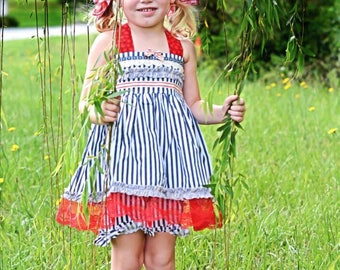 Ellie May Bundle ... Pink PomPon .. 4th of July outfit, boutique outfit, ruffle shorts, baby, toddler, girl, pageant outfit, boot covers