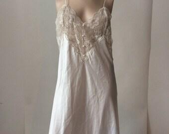 Long white silk dress