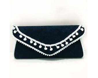 Fabric bag with long strap