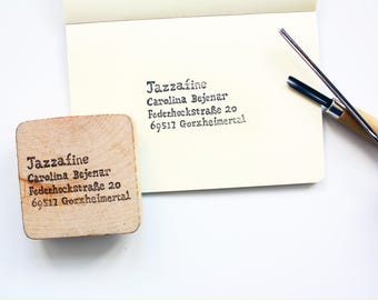 Handcarved address stamp / custom Rutern stamp / wedding stamp / hand-carved return address stamps a-housewarming gift