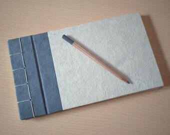 Japanese notebook, Japanese binding, Men's notebook, Blank pages notebook, Japanese stitch, Natural notebook, Natural paper