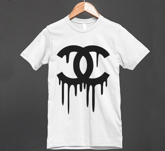 Chanel Inspired T Shirt Dripping Chanel Logo Unisex Trendy