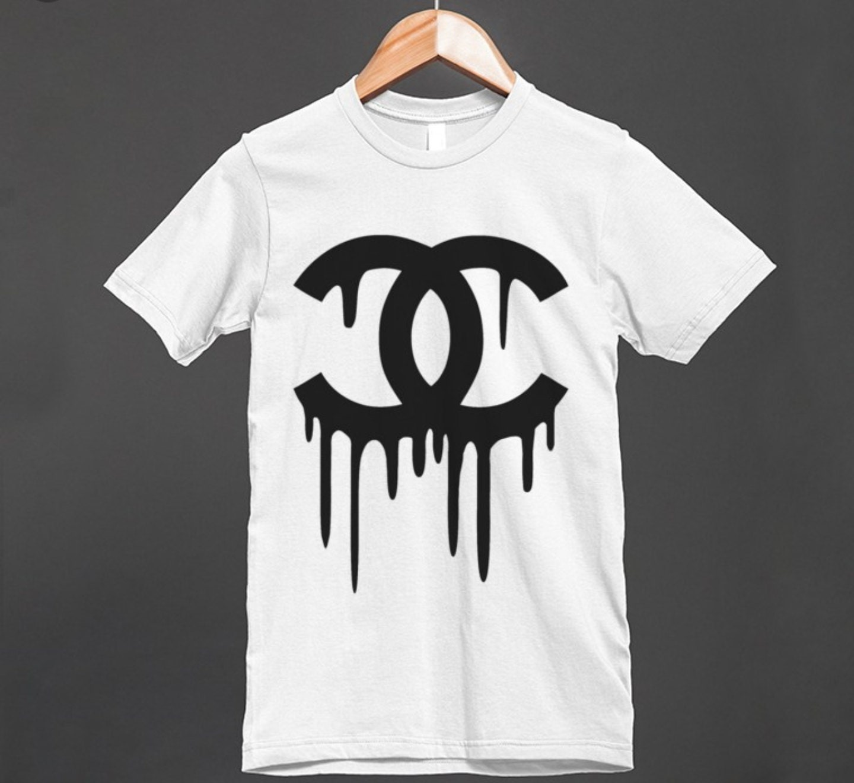 Chanel Inspired T Shirt Dripping Chanel Logo Unisex Trendy