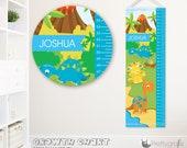 SALE Dinosaur Growth Chart, personalized Growth Chart,Kids Room decor, custom wall hanging, custom Growth Chart for children - GC127